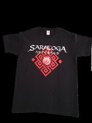 """Camiseta Manga corta """"Tribal Aeternus"""" Tinta Roja y Blanca"""