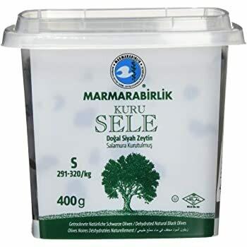 Trockensattel Oliven-Marmarabirlik Tuerkische Schwarze Oliven