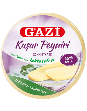 Gazi Kashkaval Schnittkäse Laktosefrei 400 gr.