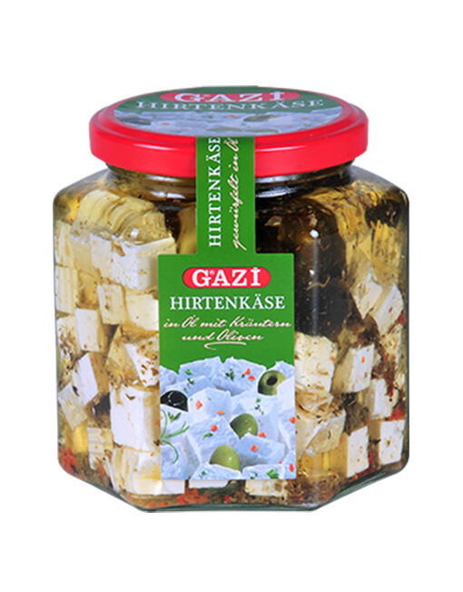 Gazi Tuerkische Hirtenkaese mit Oliven 375 gr