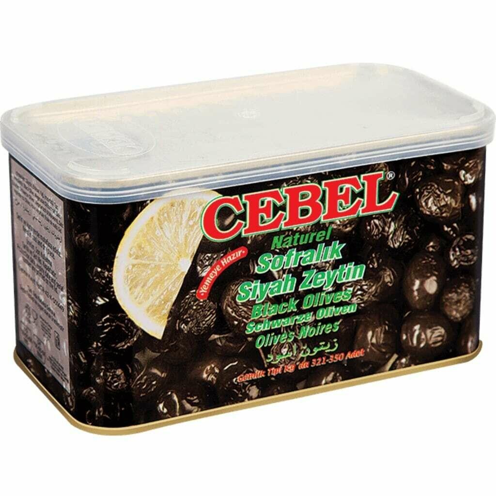 Cebel Natural Tuerkische Schwarze Oliven in Dose