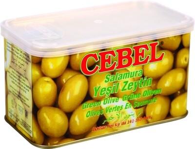 Tuerkische Grüne Oliven in Salzlake 600g Cebel