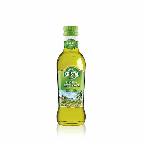 Tuerkisches Olivenöl Riviera oder Extra Virgin-Kristal