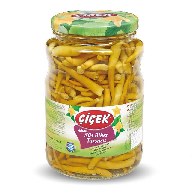 Scharfe Jalapeno-Peperonis-Essigkonserven Cicek