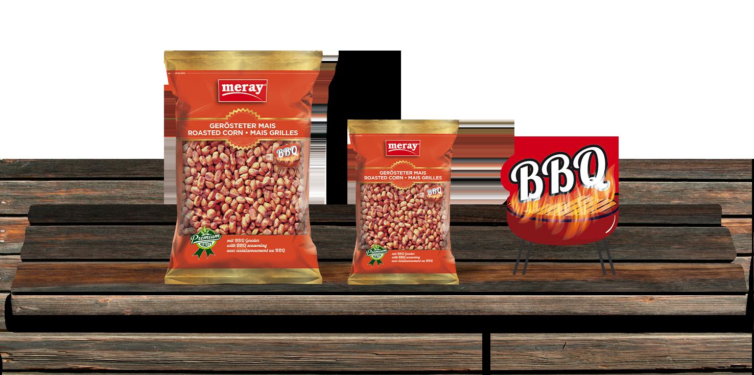 Meray- Mais Geröstet mit BBQ Gewürz- Scharf