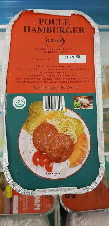 Poulet hamburger online guenstig bestellen