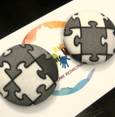 Awesome Grayscale Puzzle Earrings