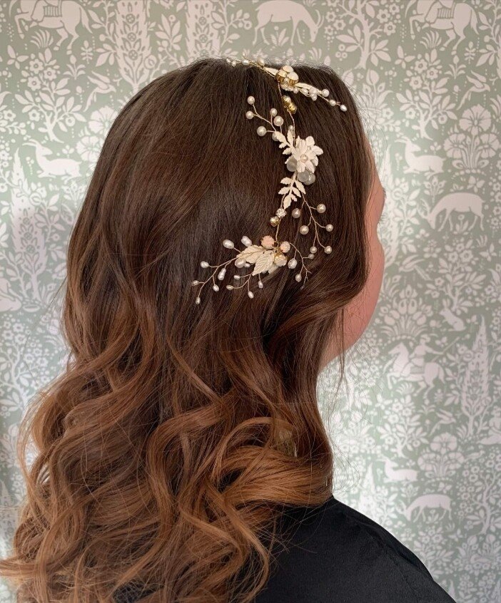 Winter Jasmine bridal hair vine