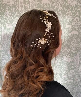Winter Jasmine bridal hair vine