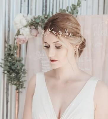 Topaz bridal hair vine