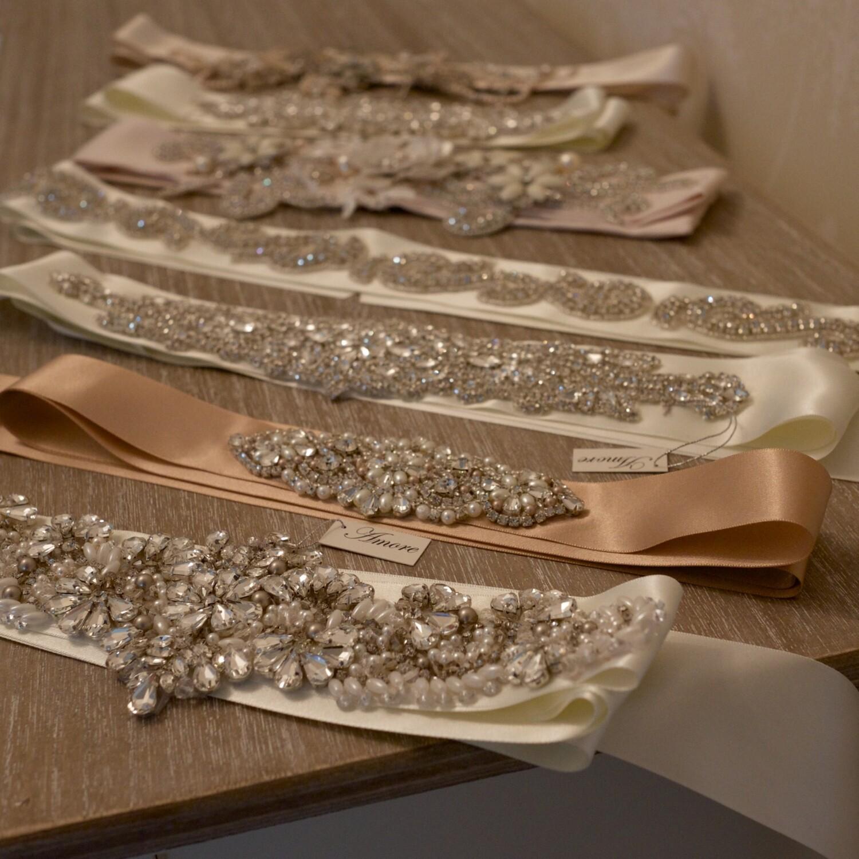 Hand sewn bridal sashes