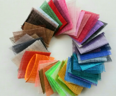 Sinamay colour samples