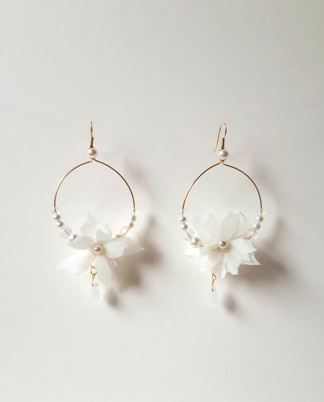 Allegra bridal statement earrings