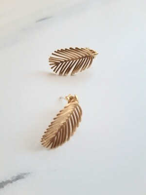 Tropical Palm Leaf earrings