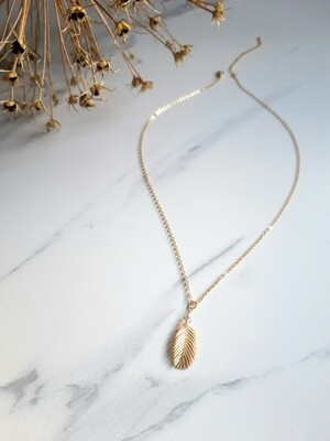 Tropical Palm Leaf Necklace