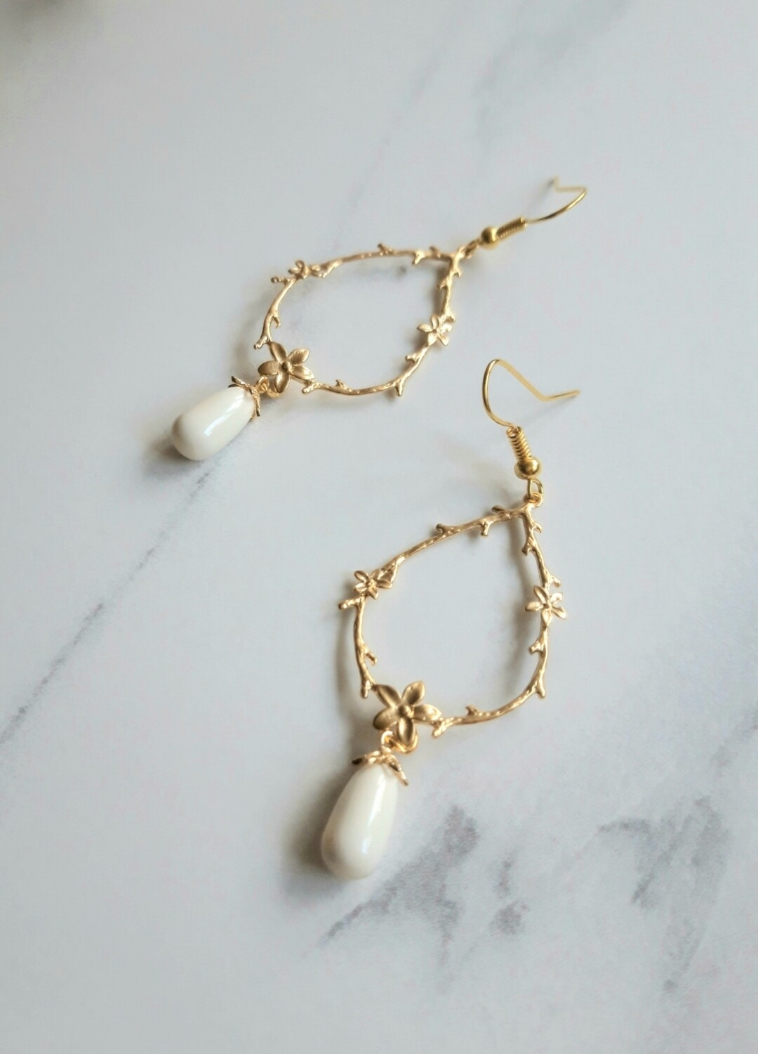 Sweet Jasmine Drop Earrings