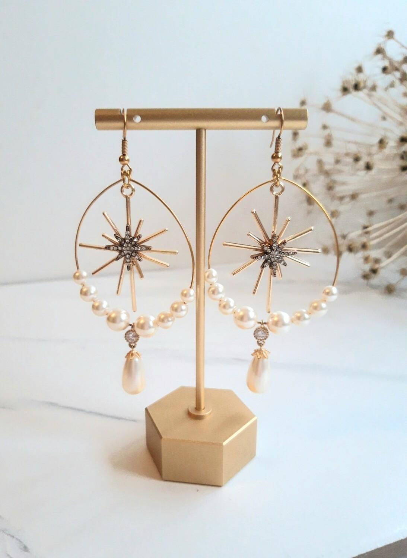 Ophelia-Celestial Bridal Earrings