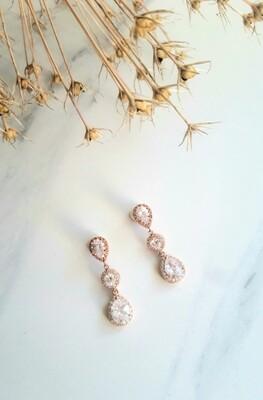 Sonata rose gold drop earrings