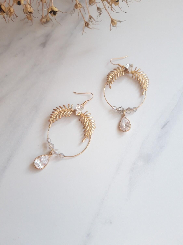 Genevieve statement bridal earrings