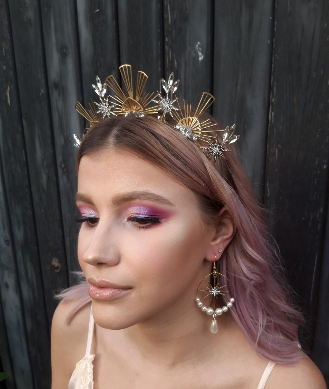 Clarice - Deco bridal crown