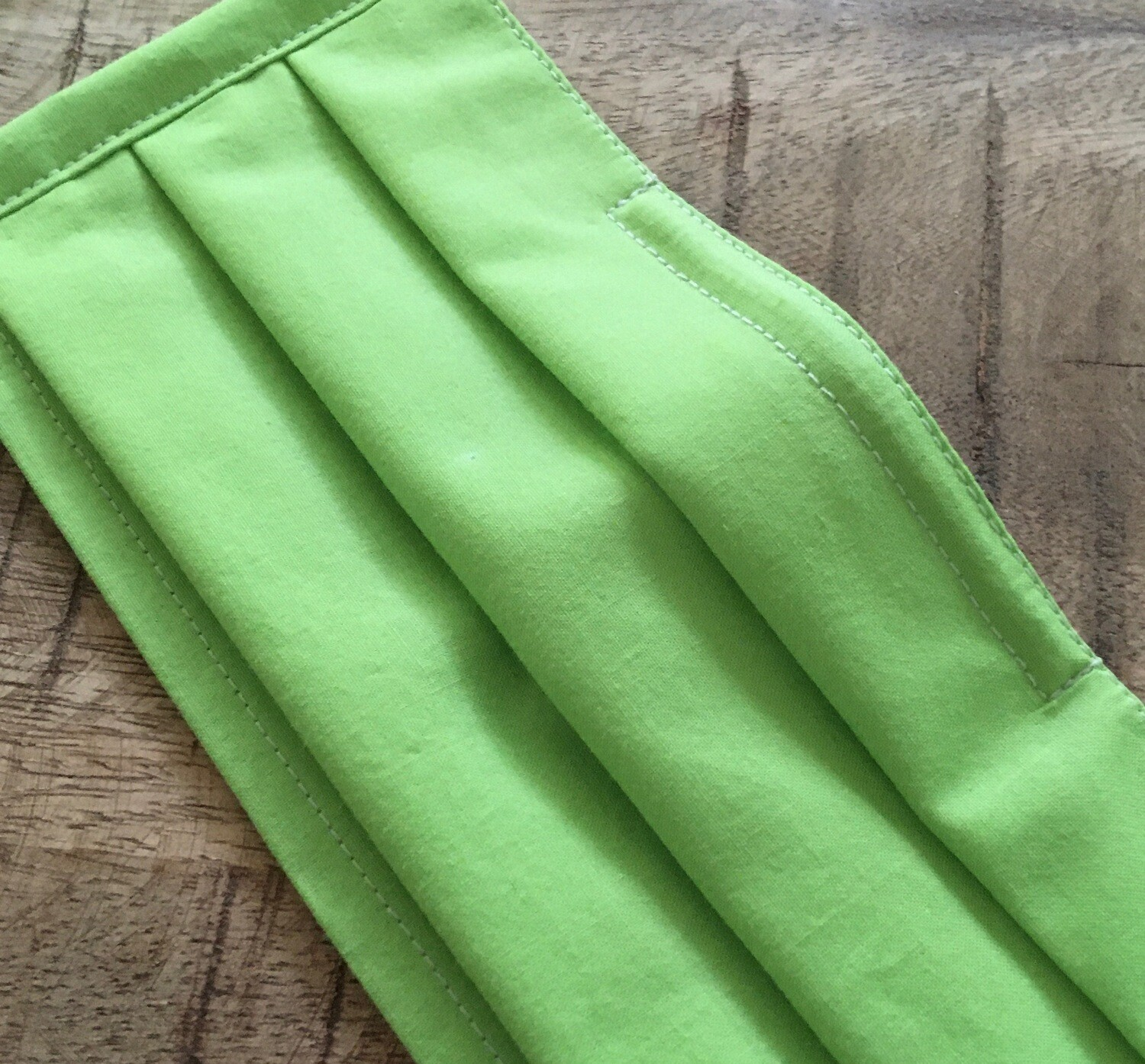 Lime Green Face Covering