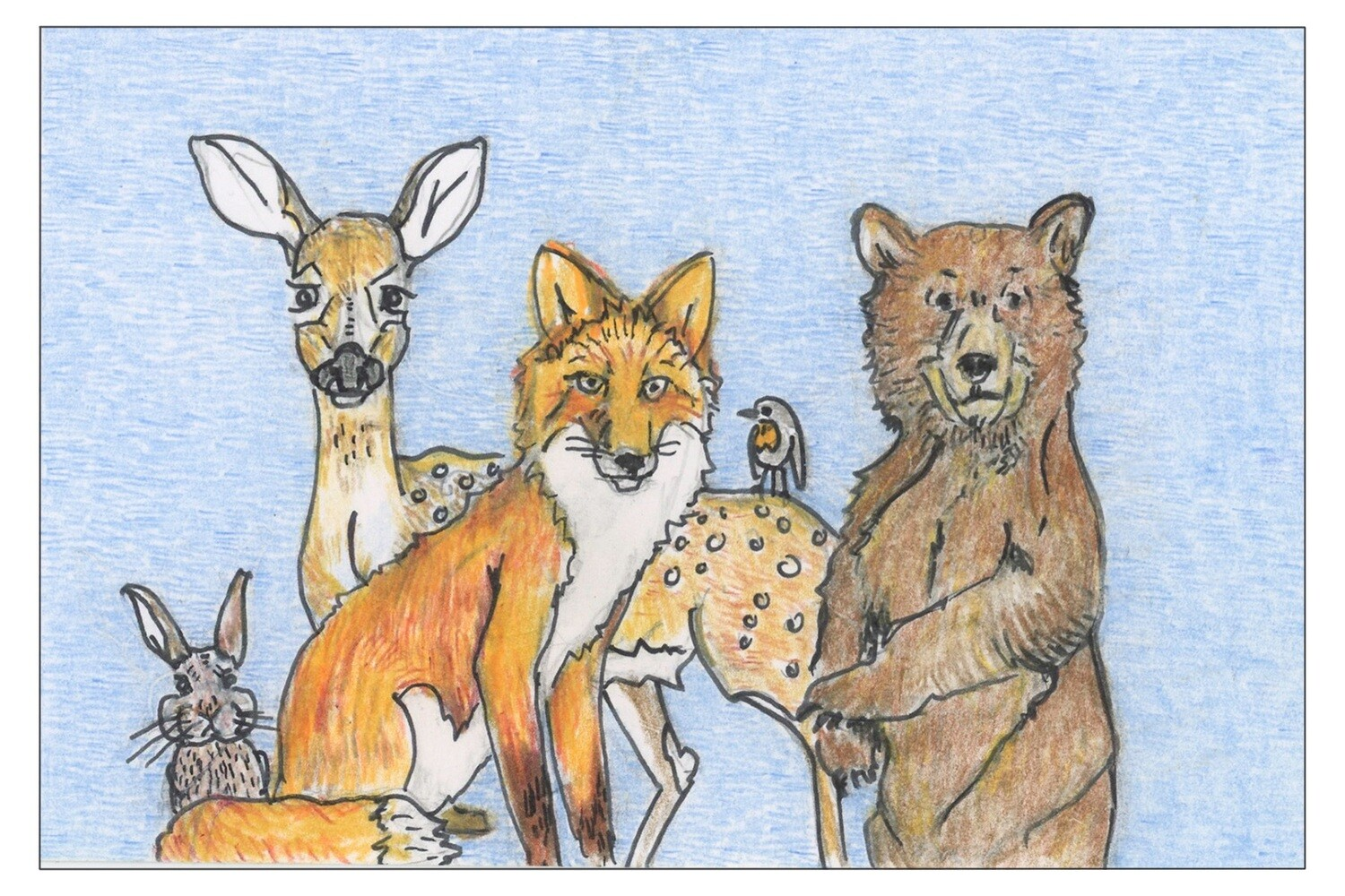 Forest Friends Postcards
