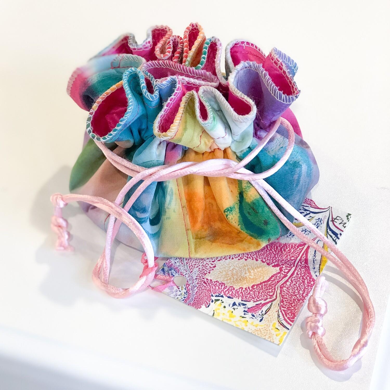 Ferr-601 Jewelry Bag Hand Painted Silk