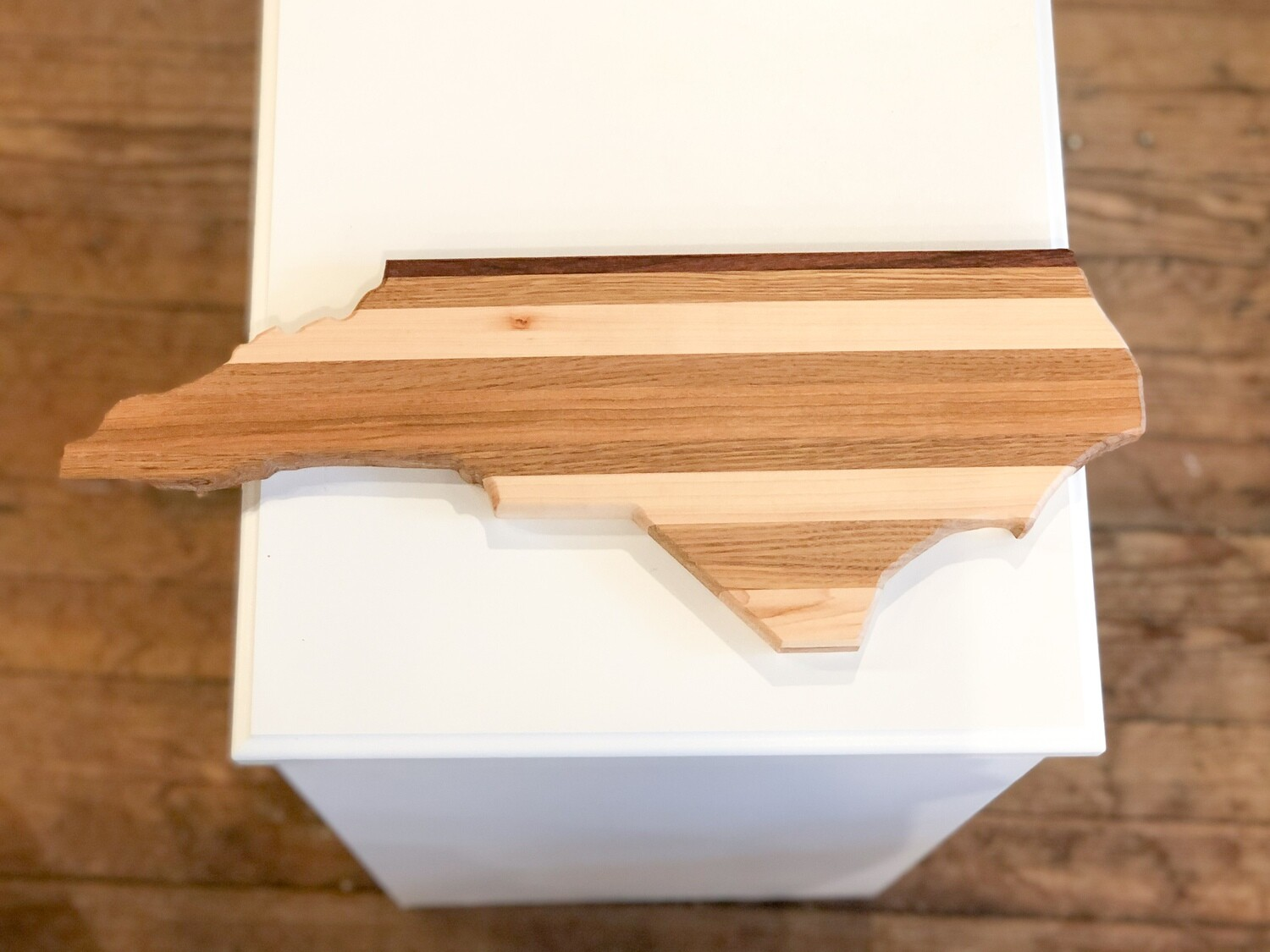 Crhs-117 Cutting Board Wood In Shape Of N.C. Thick
