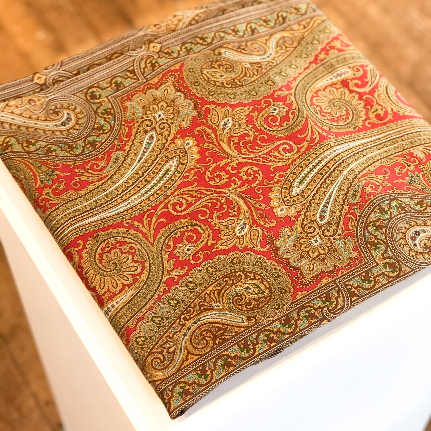 """Gift-105 Tablecloth Red Paisley 54""""x104"""""""