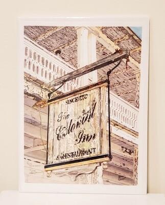 Glen-211 Watercolor Print Colonial Inn