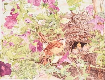 Glen-201 Watercolor Print Wren Den