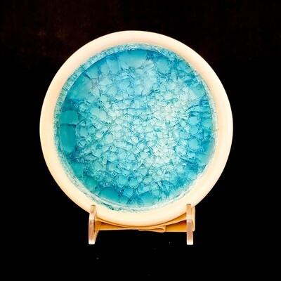 Knop-421 Stoneware Coaster Blue (5 1/2