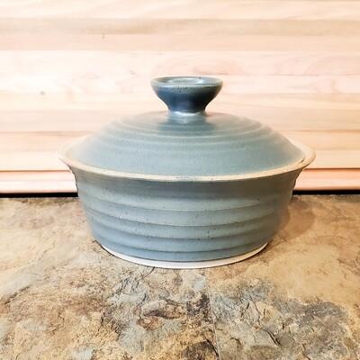 Knop-353 Stoneware Casserole Slate Green Matte Finish (3