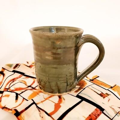 KNOP-732 Stoneware Cup Metallic Green (4