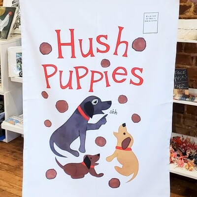 Onei-605 Hush Puppies Tea Towel