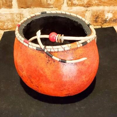 Kram-908 Gourd, Med Open Coil Rim Bowl 6