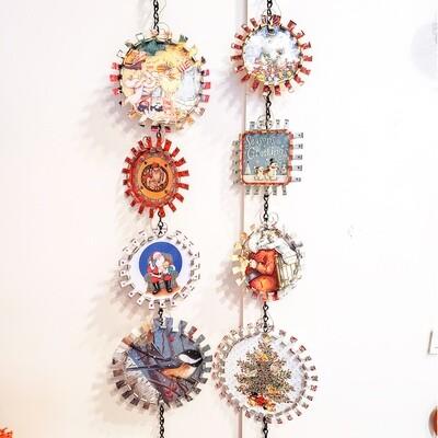 Hobg-400 Christmas Ornaments, Tin, 3