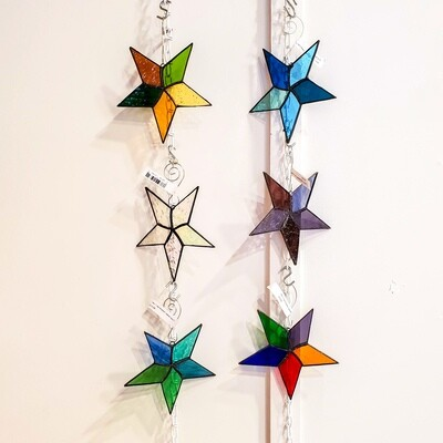 Pric-1 Star Ornament, Stained Glass 5