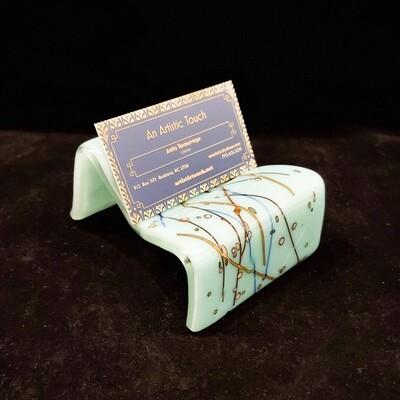 Tara-110 Business Card Holder, Fused Glass, 3.5