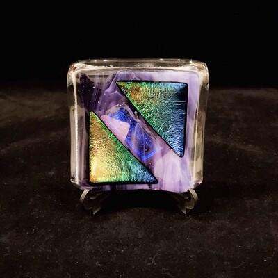 Tara-114 Sm Purple Dish, Fused Glass, 4