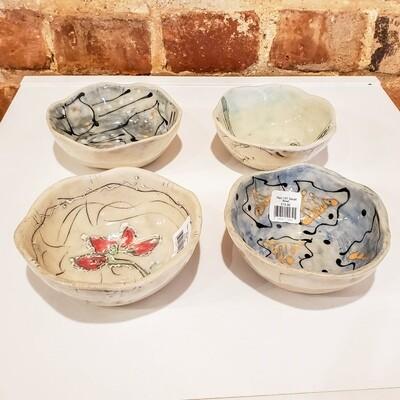 Yarn-107 Small Bowl, Stoneware, 4.25