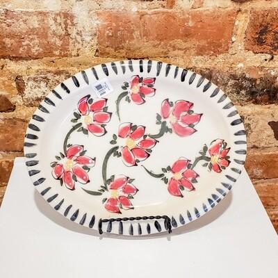 Yarn-114 Oval Plate, Stoneware, 11.25