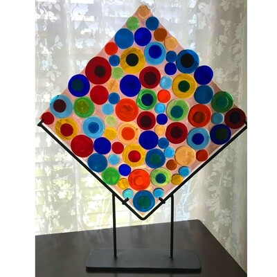 Glass Fusion Decorator Plate by Alice Kirish