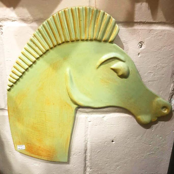Ceramic Horse Head by Jenny Murin