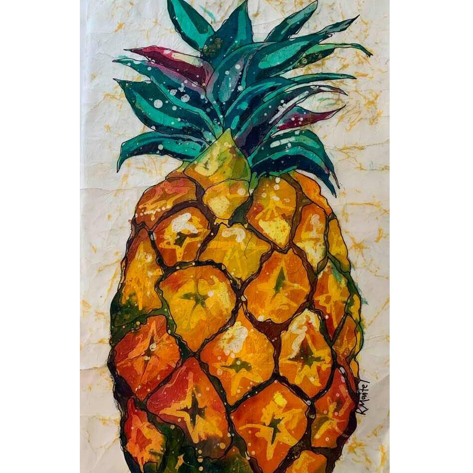 Batik on Canvas by Kathy Mantel