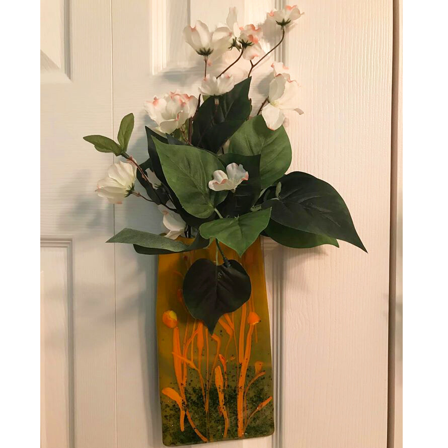 Glass Fusion Hanging Flower Planter by Alice Kirish