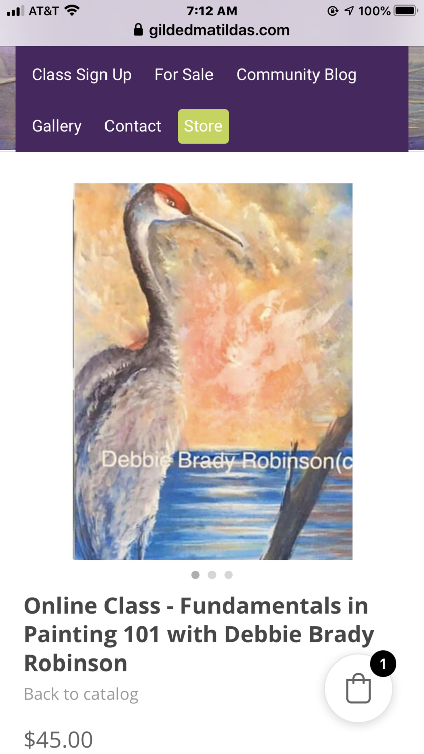 Online Class - Fundamentals in Painting 101 with Debbie Brady Robinson