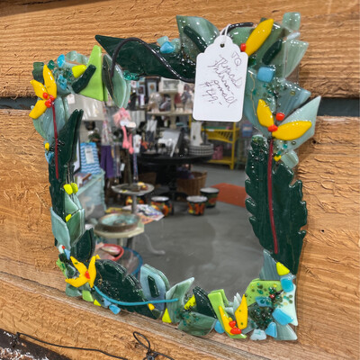 Glass Fusion Mirror by Joan Quigley