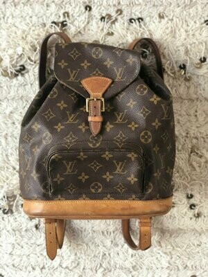 Vintage Louis Vuitton Montsouris Monogram LV BACKPACK Rucksack Travel Purse School Bag Tote Satchel