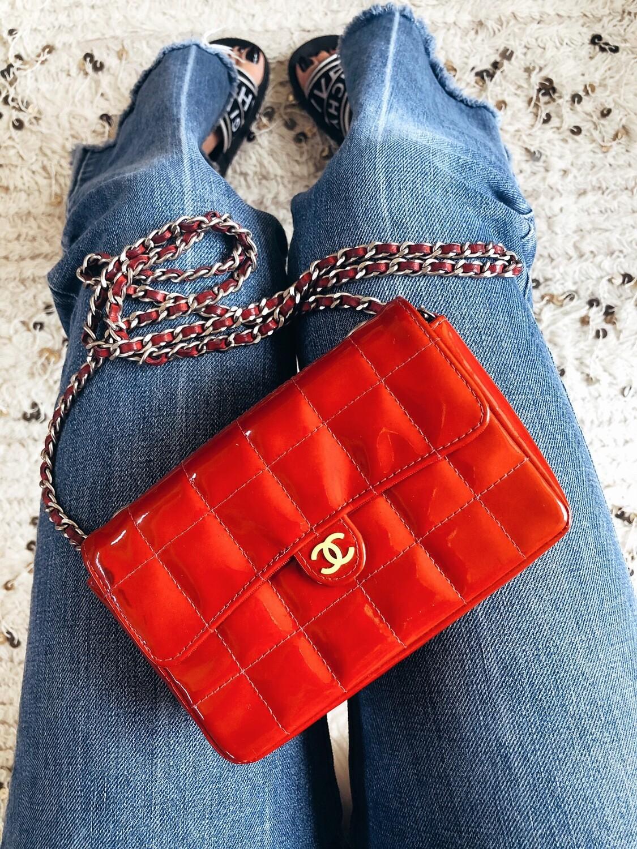 CHANEL MINI RED 2 WAY CROSSBODY WAIST BELT BAG